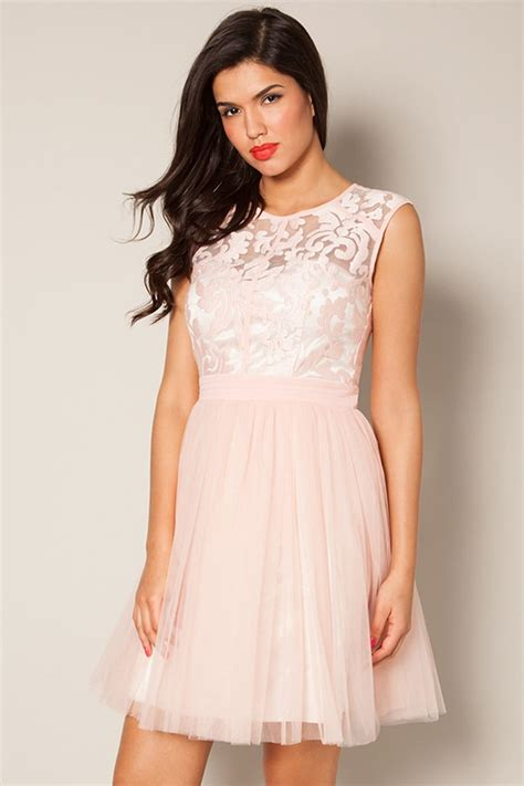 Floral Dress Santai Pink pink floral lace prom dress