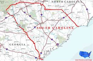 map of and south carolina south carolina maps