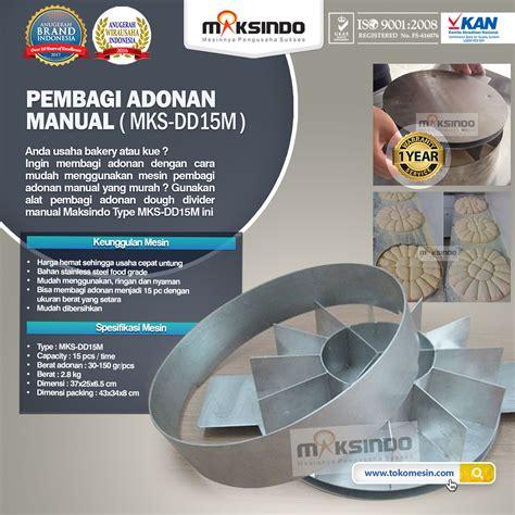 Jual Sho Metal Palembang jual pembagi adonan manual dd15m di palembang toko