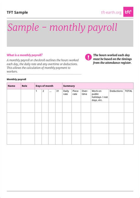 payroll templates  samples   ms word excel