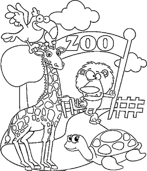 zoo coloring page zoo animals coloring pages free