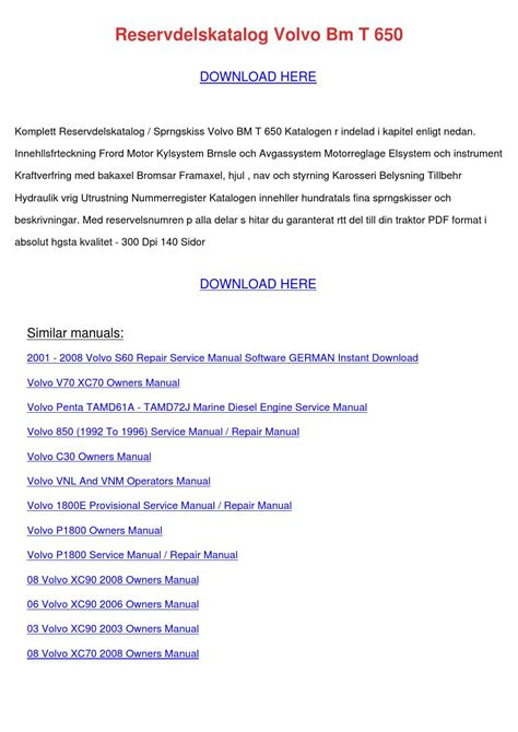 download 2008 volvo s60 owner s manual pdf 230 pages reservdelskatalog volvo bm t 650 by irishgeiger issuu