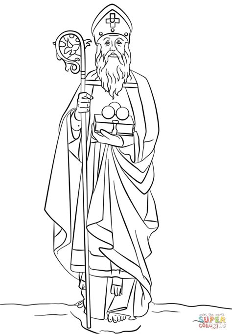 St Nicholas Coloring Page Free Printable Coloring Pages St Nicholas Coloring Page