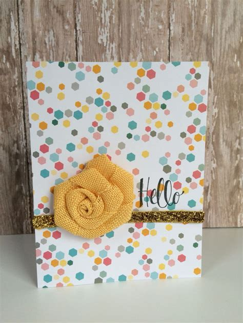Handmade Cards With Ribbon - handmade card this is one of my favorites hello