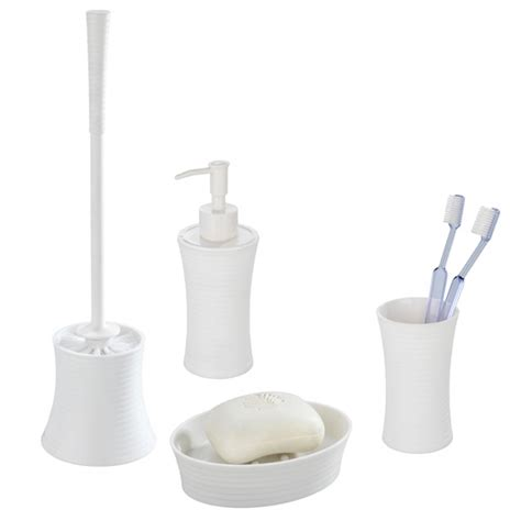 White Bathroom Accessories Sets Wenko Vetto Bathroom Accessories Set White At Plumbing Uk