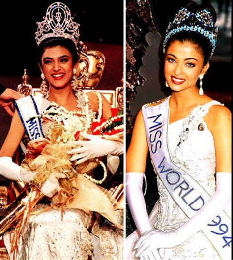 sushmita sen and aishwarya rai from beating aishwarya in a beauty pageant to being a