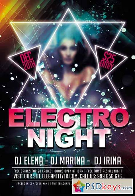 club flyer design templates free electro premium club flyer psd template fb cover and