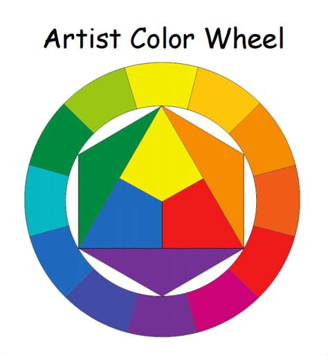 fashion color wheel 6 sle color wheel charts sle templates