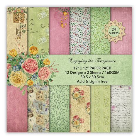 12inch Scrapbook Paper 25 buy enjoying the fragrance scrapbook paper pack of 24 sheets 12 by 12 inch in india