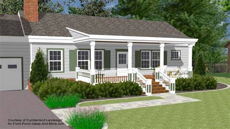 small house with ranch style porch front porch designs