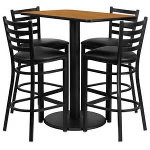 High Top Bar Tables Set Of 10 Rectangular High Top Restaurant Cafe Bar Table And Stool Chair Set Ebay
