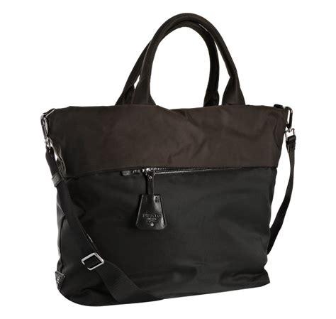 8103 Black Shoulder Bag lyst prada black color block tote shoulder bag in black