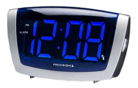 precision radio controlled blue led clock large display electric alarm clocks ebay