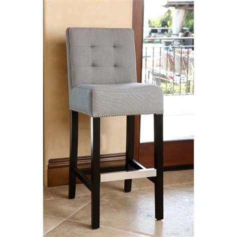 gray linen counter stool abbyson living linden 30 quot linen gray bar stool ebay
