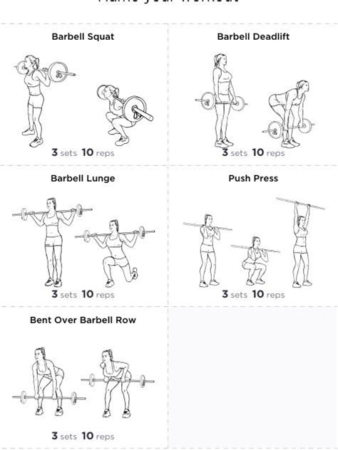 barbell workout barbell exercises legs