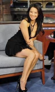 actress amp model lucy liu on talk show in sexy dress