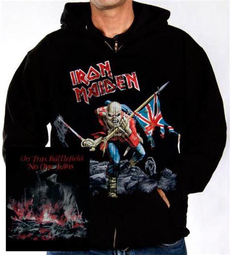Jaket Sweater Iron iron maiden hoodie the trooper distressed