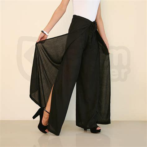 Wrap Around Cheap by Cheap Palazzo Black Wrap Wide Legged 21 00