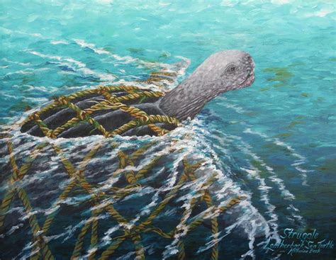 Sea Turtle Home Decor by Struggle Leatherback Sea Turtle Painting By Katherine