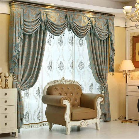 Fancy Drapes Elegant Living Room Curtains Special For Big Window