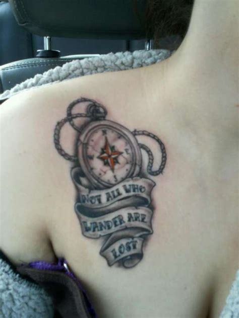not all who wander are lost tattoo compass tattoos and designs page 51