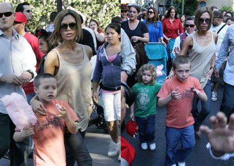 Beckhams Hit Disneyland by Posh Hits Disneyland Popsugar