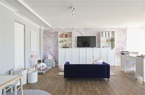 design feat  super stylish combined office playroom