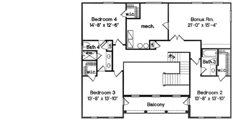 2nd floor plans second floor balcony 83309cl architectural designs