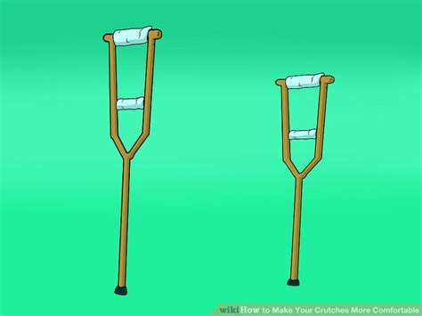 how to make crutches more comfortable on hands how to make your crutches more comfortable 9 steps