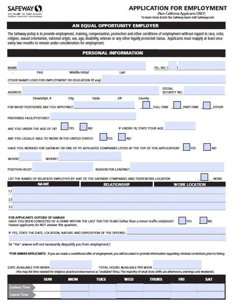 levis printable job application applications for safeway grocery store job application