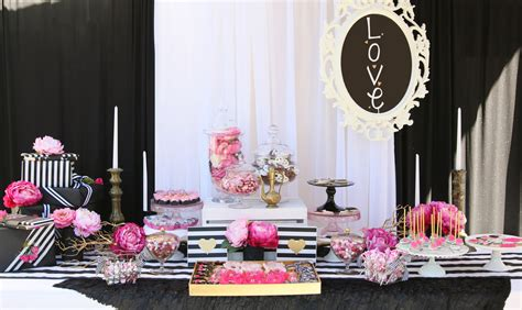 pink and black bridal shower decorations pink injoy the