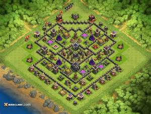 Th9 farming base layout latest clash of clans th9 farming base layouts