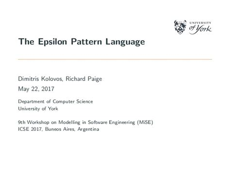 pattern language computing the epsilon pattern language