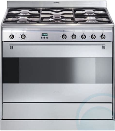 Oven Kompor Stainless freestanding smeg dual fuel oven stove sa9065x appliances