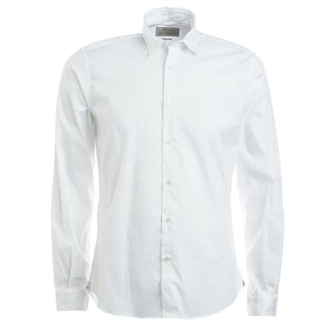 S White Sleeve Button Up Blouse by Poggianti S White Sleeve Button Up Stretch Shirt