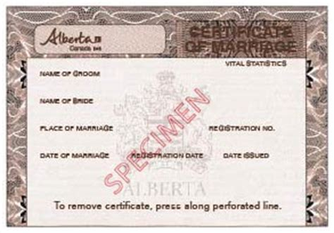 Birth Records Alberta Service Alberta Available Marriage Documents
