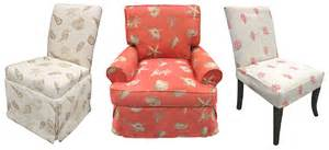 Check out the seashell and coral printed fabric that we also loved