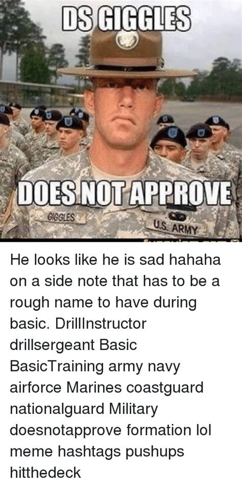 Us Military Memes - dsgiggles does not approve us army he looks like he is sad