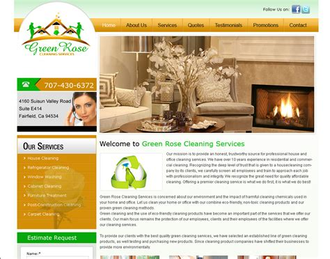 Home Decorating Sites Online by Cleaning Company Business Website Designing Prices Website