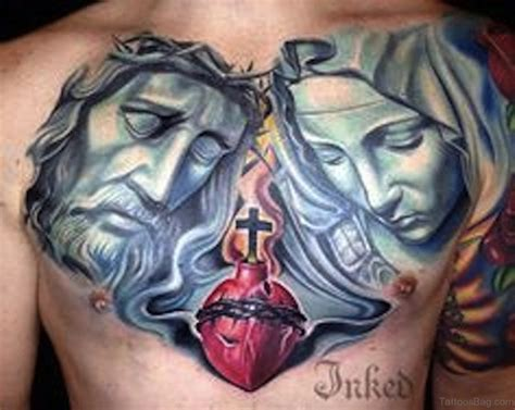 jesus chest tattoos 70 mind blowing jesus tattoos for chest