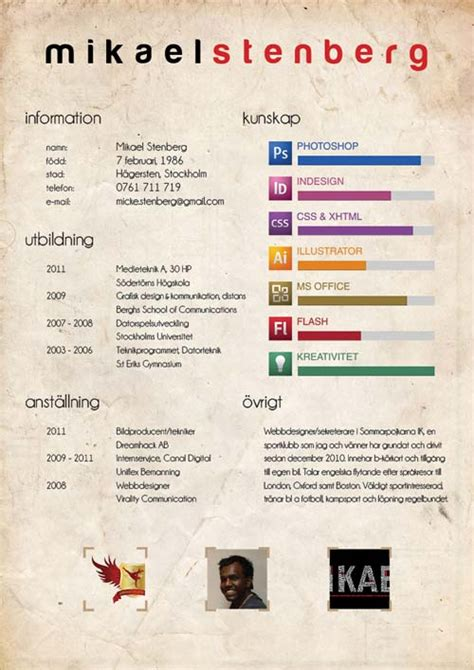 Artistic Resume by 35 Creative Resume Design