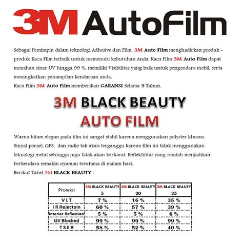 Kaca 3m Blackbeauty kaca 3m garansi resmi black small car elevenia