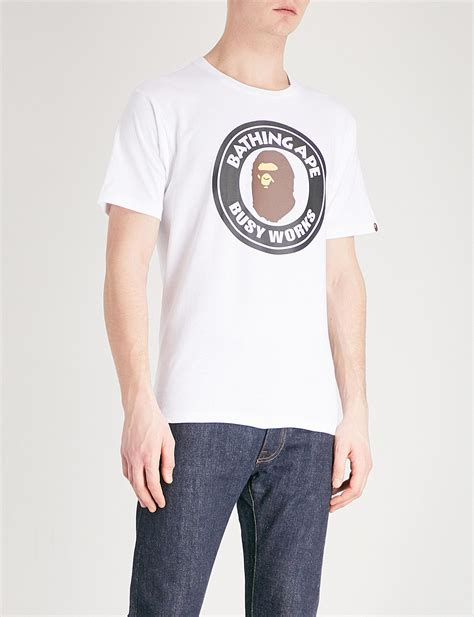 Apparel Lab Printed Prague White lyst a bathing ape busy works printed cotton jersey t shirt in white for