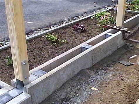 Borde Setzen Beton by Zaun Auf Beton Befestigen Mischungsverh 228 Ltnis Zement