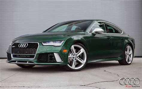bentley dark green 2016 audi rs7 in verdant green looks like a bentley