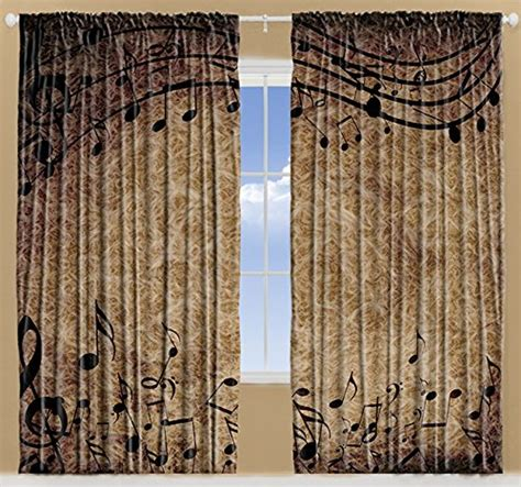 music note window curtains musical decor curtains by ambesonne music notes chopin
