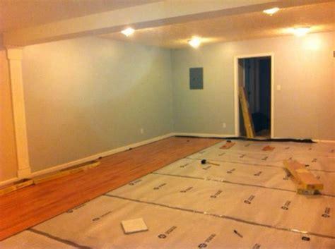 Did I install underlay correctly for laminate flooring on