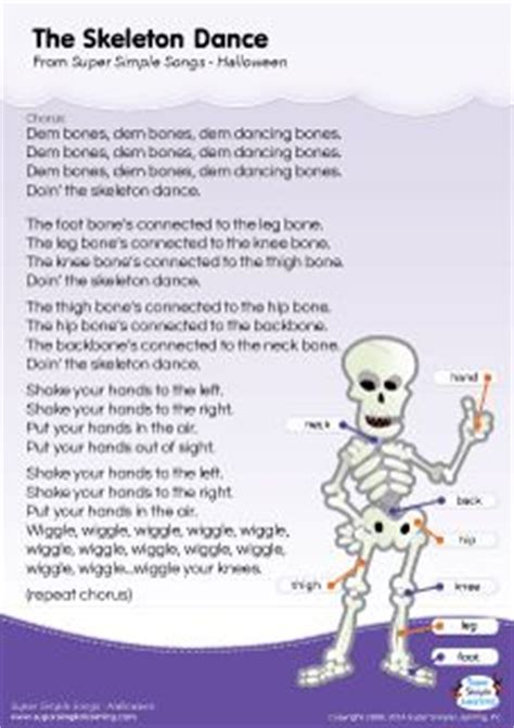 you learn testo lyrics poster for the skeleton song from