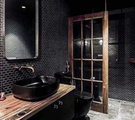 top 60 best black bathroom ideas interior designs