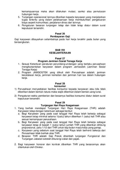 Contoh Surat Perjalanan Dinas Karyawan Swasta by Contoh Peraturan Perusahaan Bucah